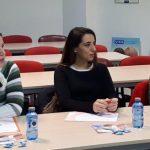 detalle de momentos de la celebración del curso Cómo redactar un currículum Vitae y Cómo afrontar una entrevista de trabajo, 24 de Febrero, 2018.