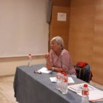 Reunión de la presidenta del colegio, Dª Rosario Velarde, con los higienistas dentales colegiados de Castellón, el 3 de Mayo de 2018.