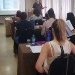 Detalle del docente de Xpert, impartiendo la II edición del curso de Operador de Radiodiagnóstico dirigido a higienistas dentales, Valencia, 2018